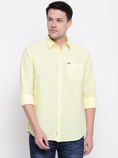 Mens Lemon Yellow Shirt