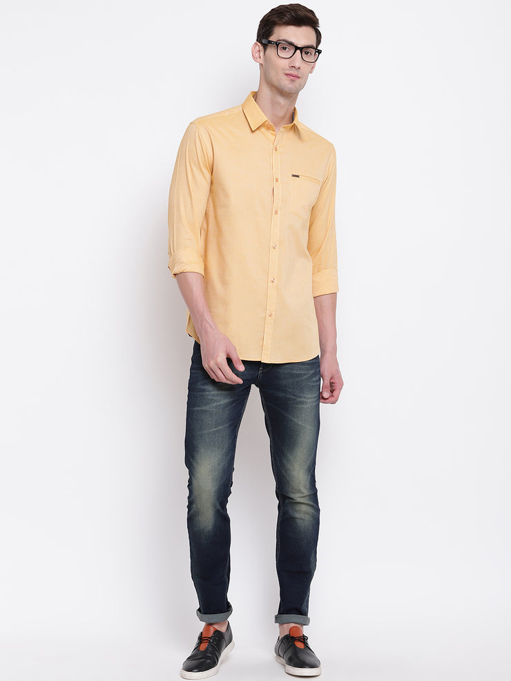 Mens Yellow Shirt