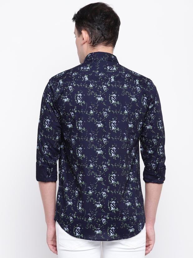Mens Blue & Green Shirt