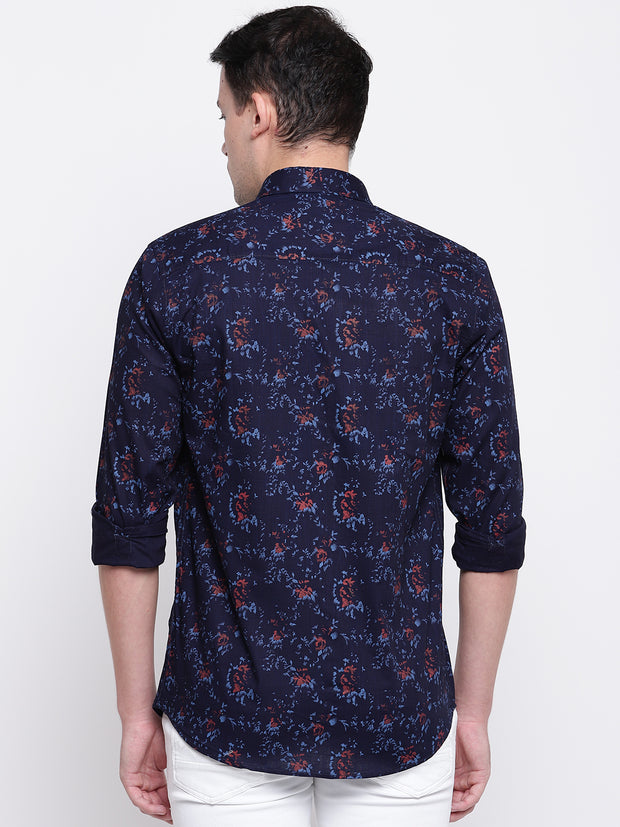 Mens Blue & Red Shirt