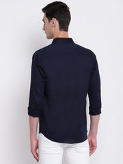 Mens Navy Blue Shirt