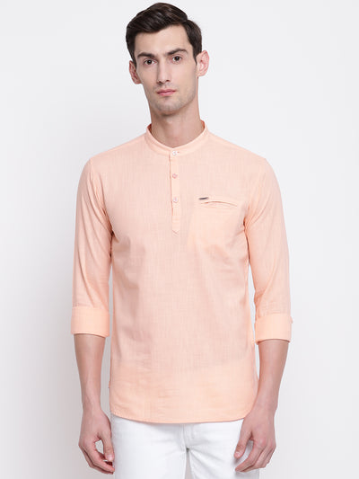 Mens Peach Shirt