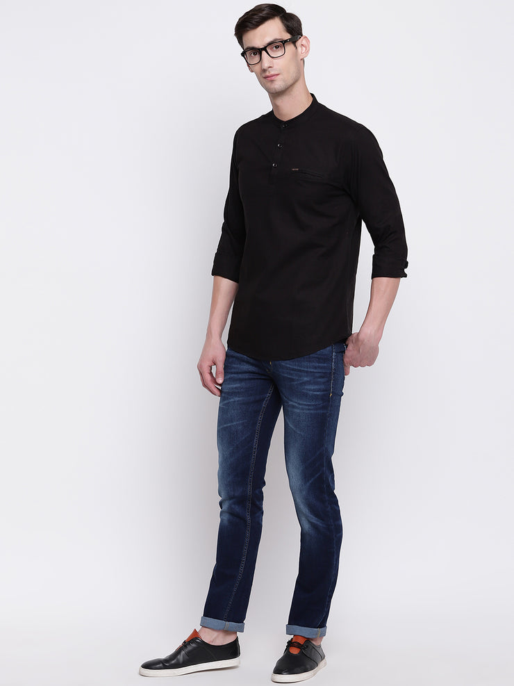 Mens Black Shirt
