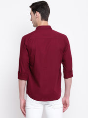 Mens Maroon Shirt