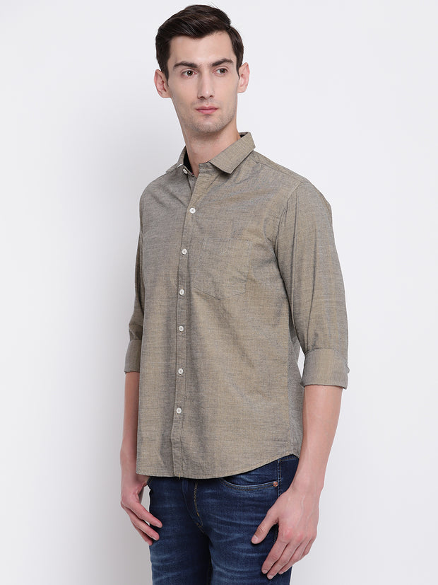 Mens Light Brown Shirt