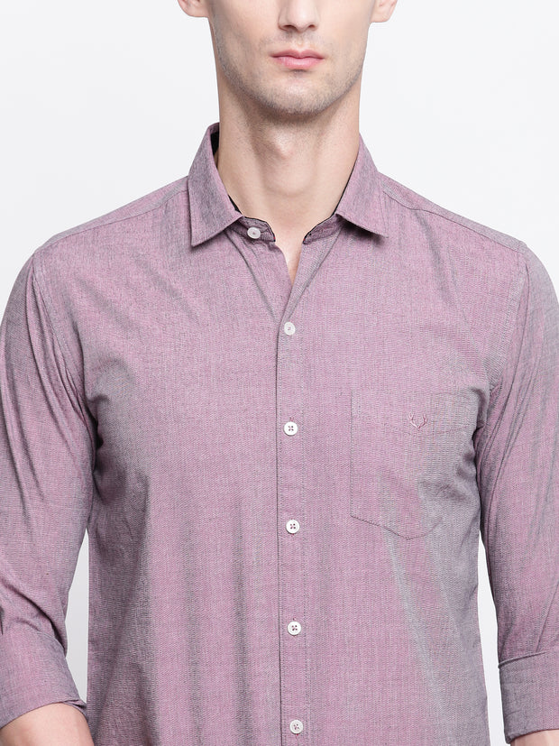 Cotton Full Sleeves Pink Casual Shirt