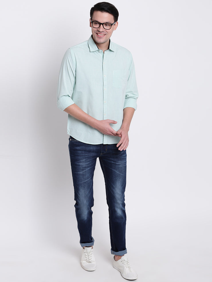 Mens Sea Green Shirt
