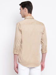 Mens Beige Shirt