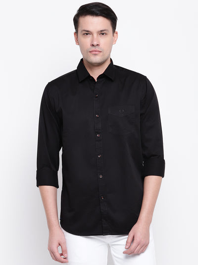 Mens Black & Red Shirt