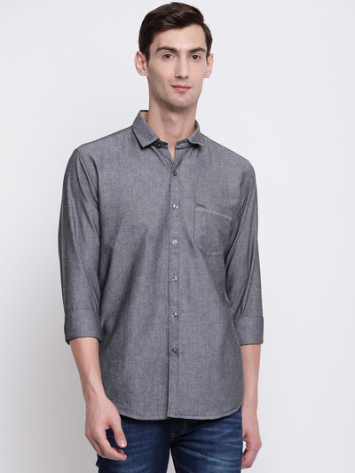 Mens Dark Grey Shirt
