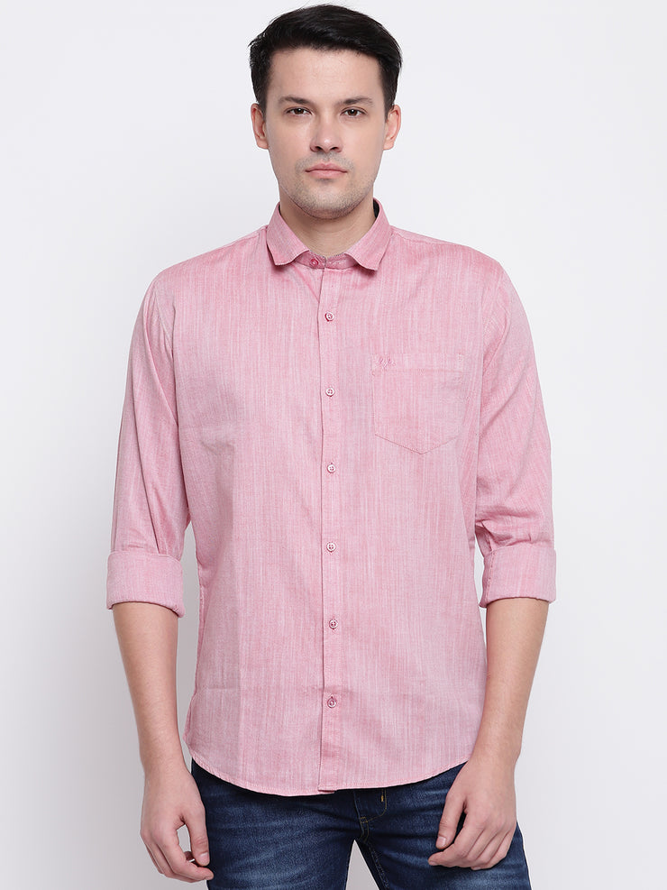 Mens Dark Pink Shirt