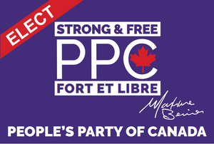 Purple Election Sign