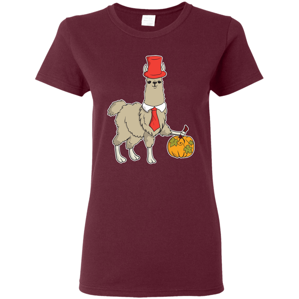 Happy Llamaween Ladies' 5.3 oz. T-Shirt