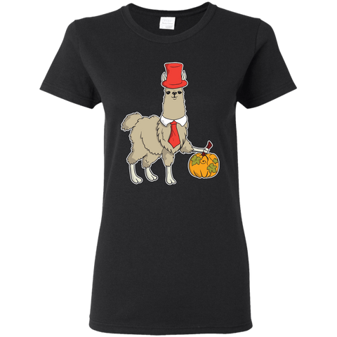 Image of Happy Llamaween Ladies' 5.3 oz. T-Shirt