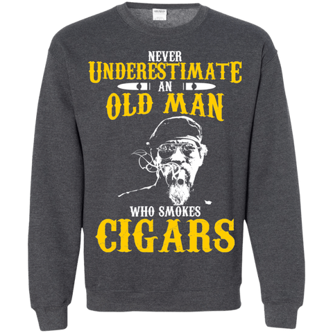 Image of old man cigar smoker