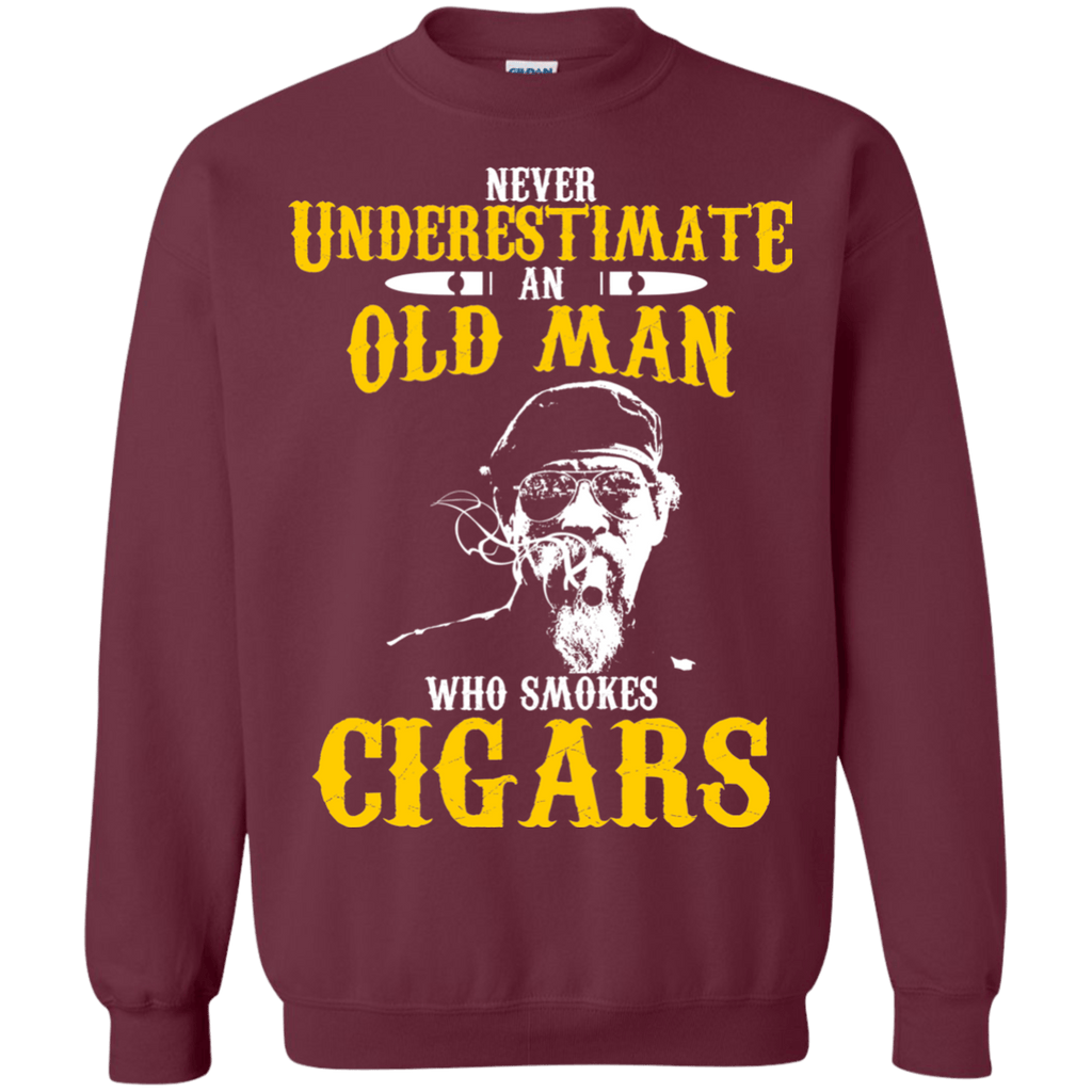 old man cigar smoker