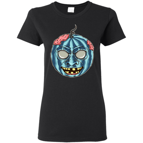 Image of Halloween Scary Pumpkin Ladies' 5.3 oz. T-Shirt