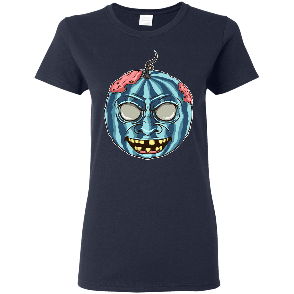 Halloween Scary Pumpkin Ladies' 5.3 oz. T-Shirt