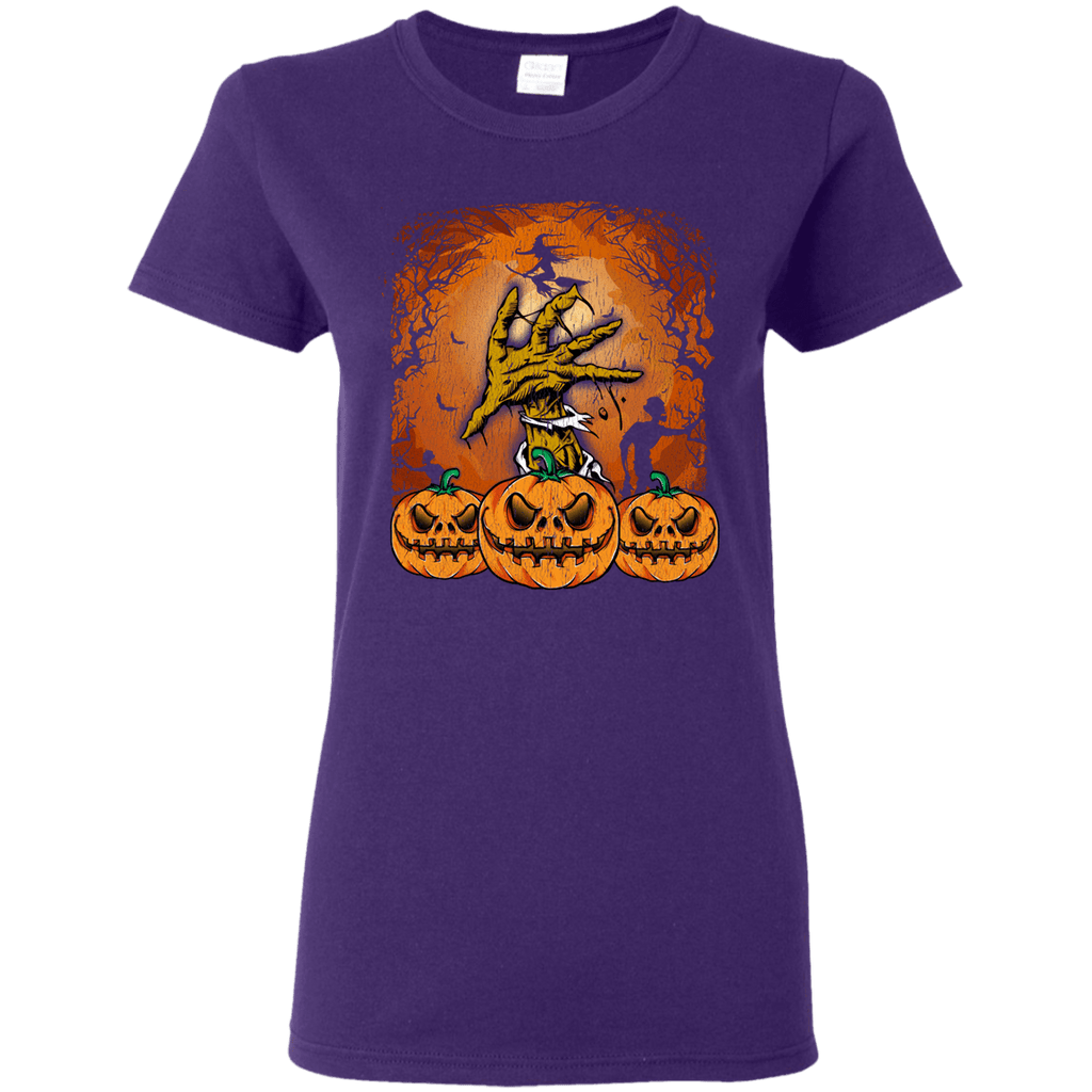 Halloween Lover of Witches, Pumpkins or Zombies Ladies' 5.3 oz. T-Shirt