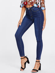 Dark Wash Classic High Waist Skinny Jeans