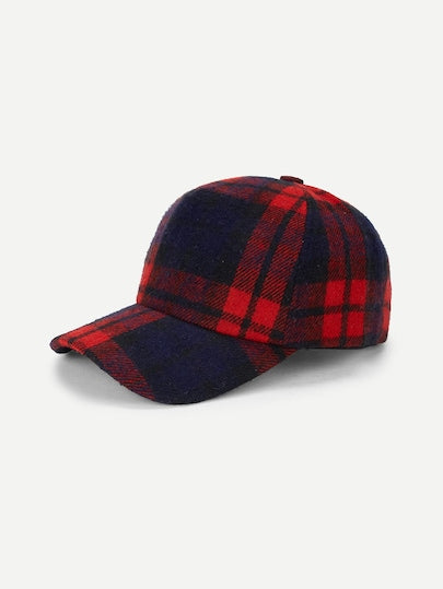 Cute Plaid Baseball Cap