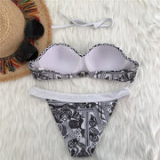 Gorgeous Retro Tribal Floral Bikini Set