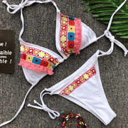 Floral Push-Up Bikini Set