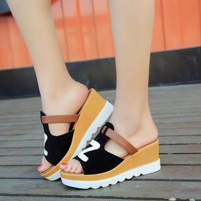 Casual Solid Color Wedges
