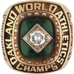 1989 Oakland Athletics MLB World Series Championship Ring