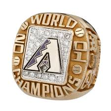2001 Arizona Diamondbacks Championship Ring