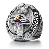 Baltimore Ravens Championship Rings Collection 2 Rings