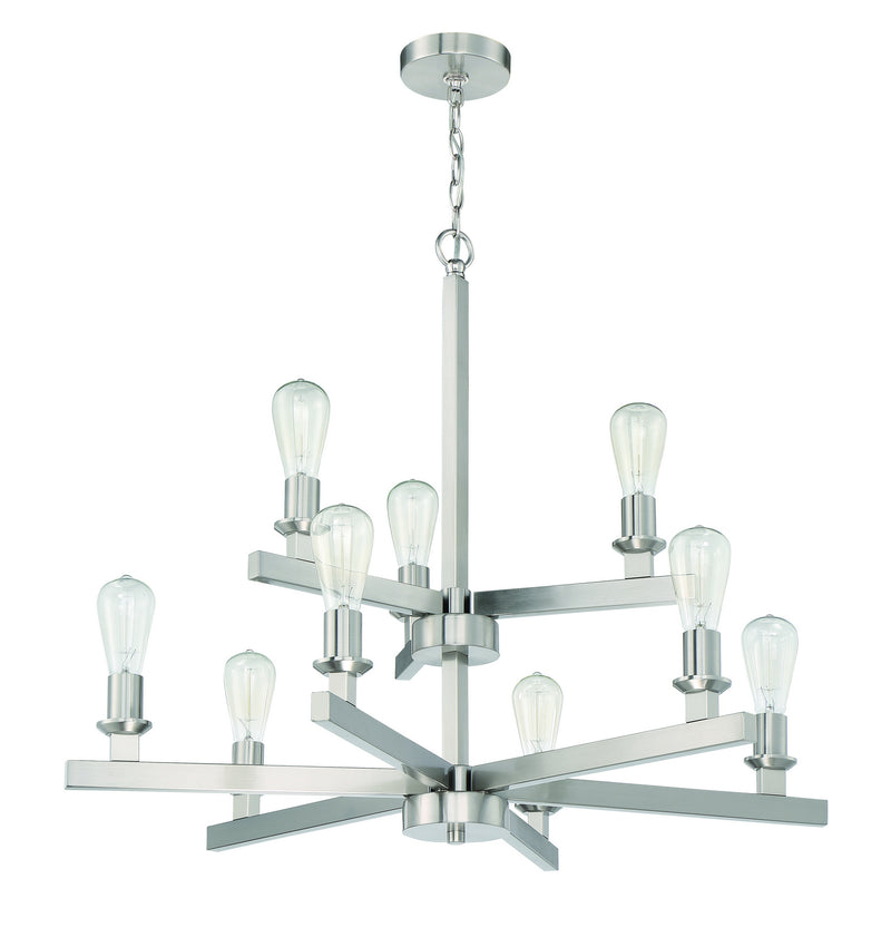 Craftmade 53129-BNK Nine Light Chandelier