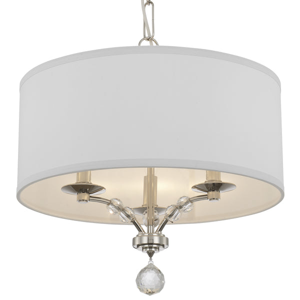 Crystorama 8005-PN Mirage Three Light Chandelier