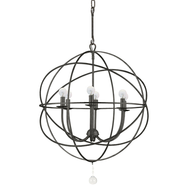 Crystorama 9226-EB Solaris Six Light Chandelier