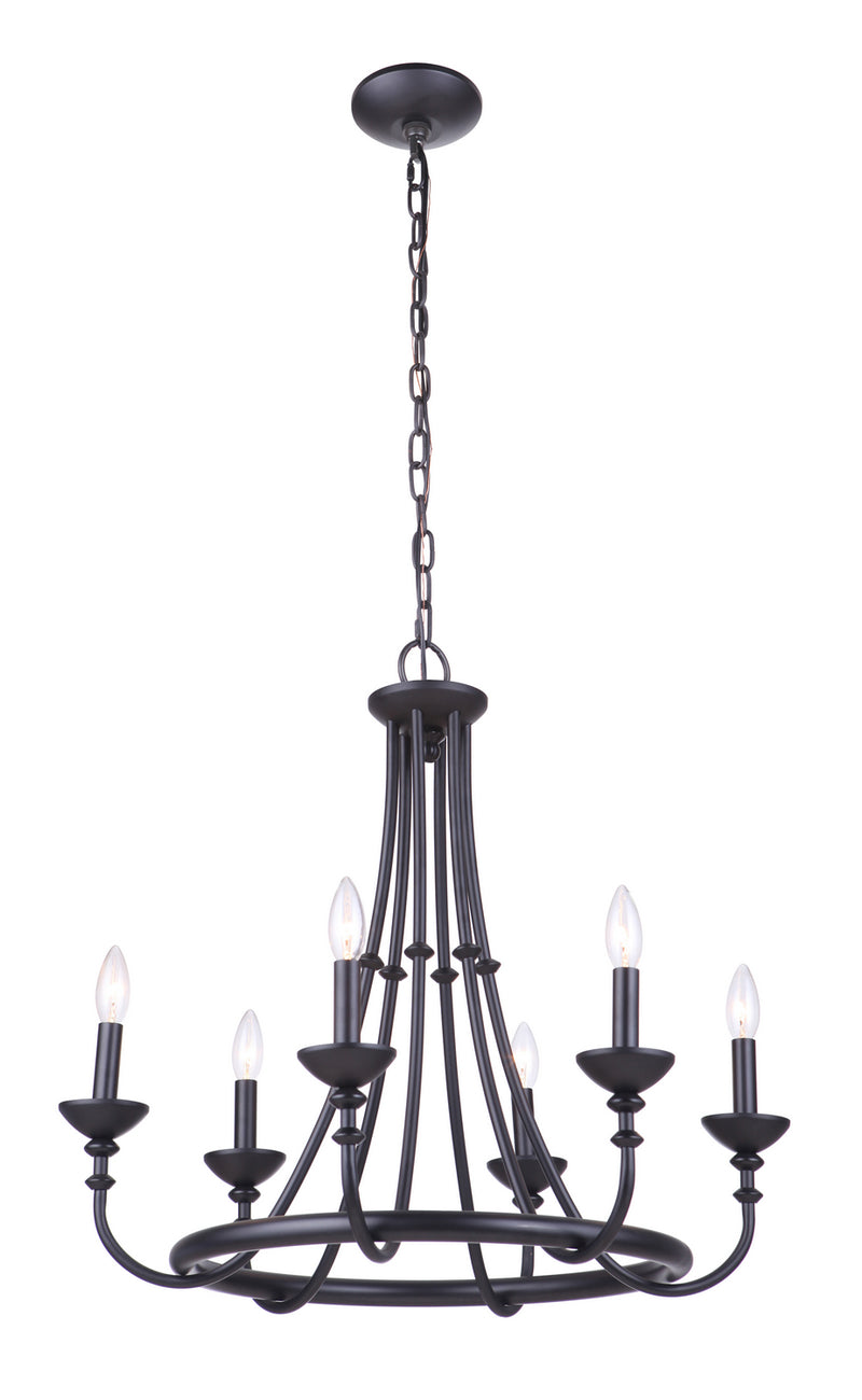 Craftmade 53726-FB Six Light Chandelier