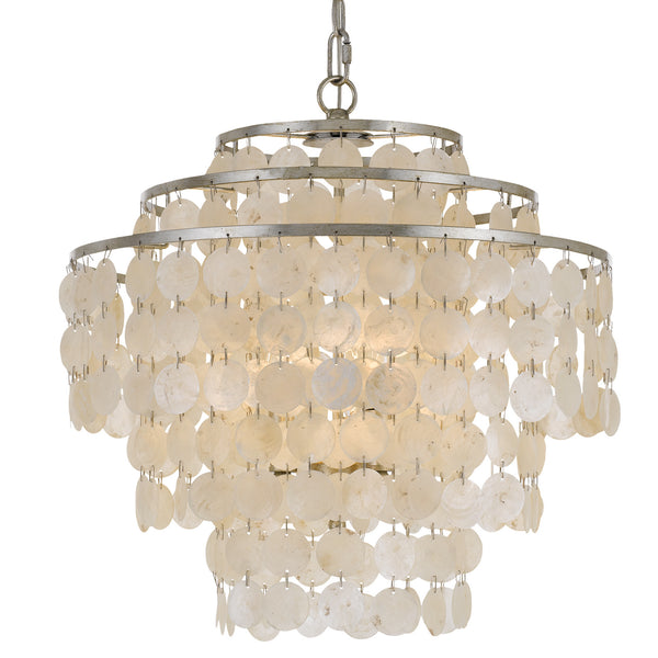 Crystorama BRI-3008-SA Brielle Four Light Chandelier