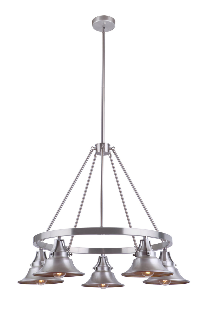 Craftmade 54025-SA Five Light Outdoor Chandelier