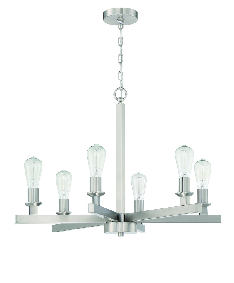 Craftmade 53126-BNK Six Light Chandelier
