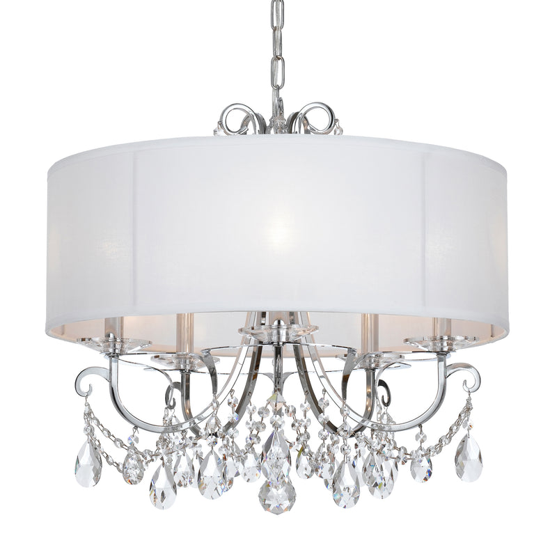 Crystorama 6625-CH-CL-MWP Othello Five Light Chandelier