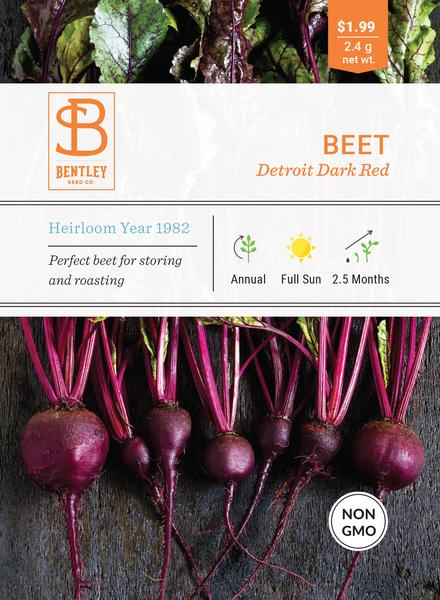 Detroit Dark Red Beet Seeds (2.4g) - Pure Detroit