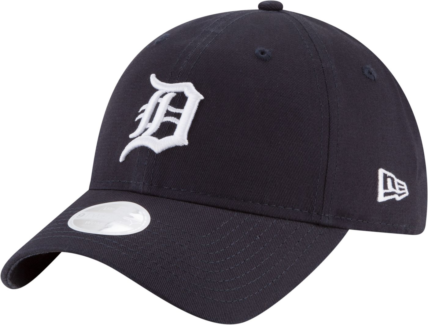 New Era Women's Detroit Tigers 9Twenty Adjustable Hat / White + Navy - Pure Detroit
