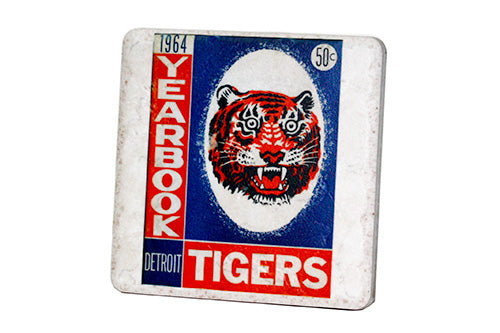1964 Detroit Tigers Yearbook Porcelain Tile Coaster