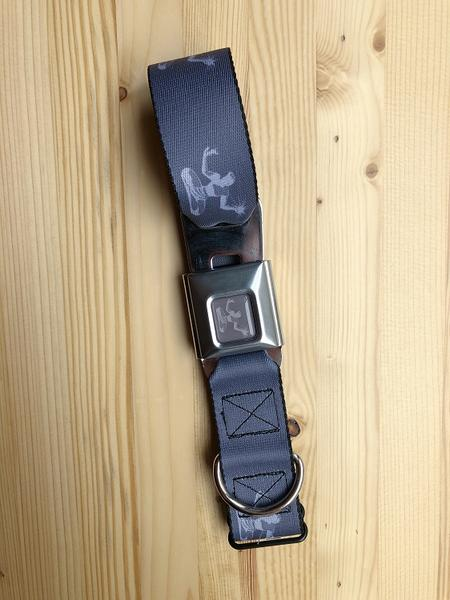 Spirit of Detroit Dog Collar / Light Gray + Gray - Pure Detroit