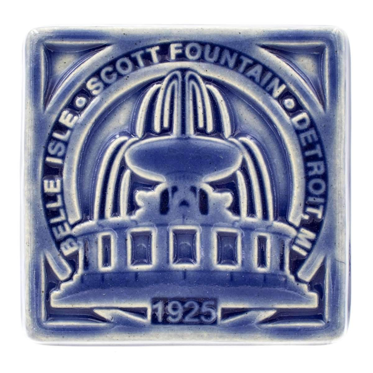 Belle Isle Fountain Pewabic Tile