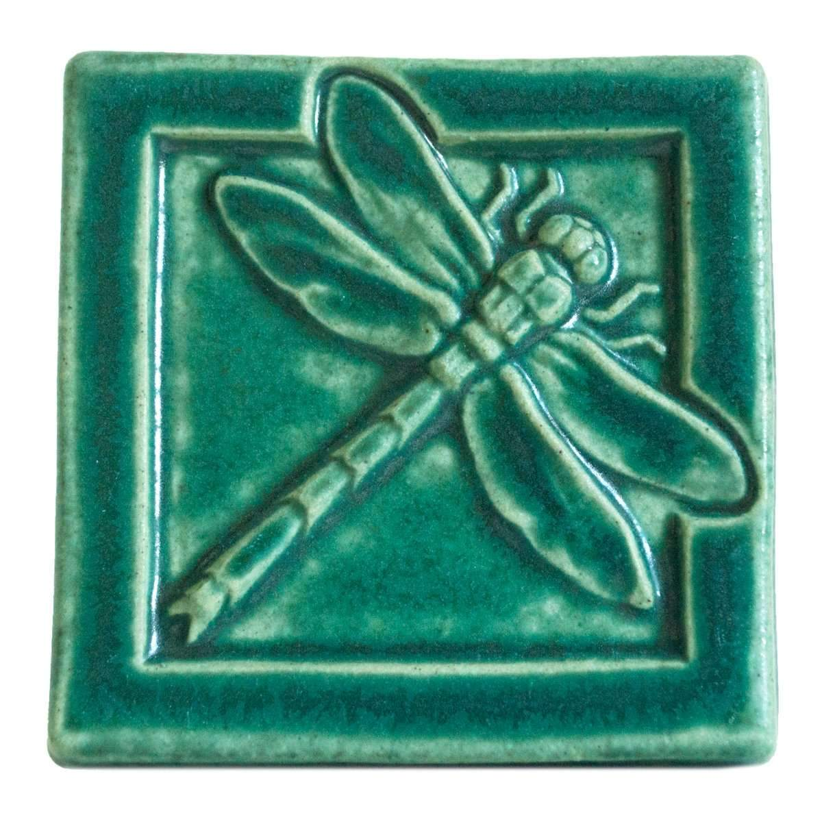 4x4 Dragonfly - Pewabic Green - Pure Detroit