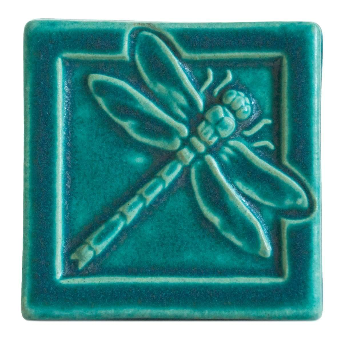 4x4 Dragonfly - Pewabic Blue - Pure Detroit