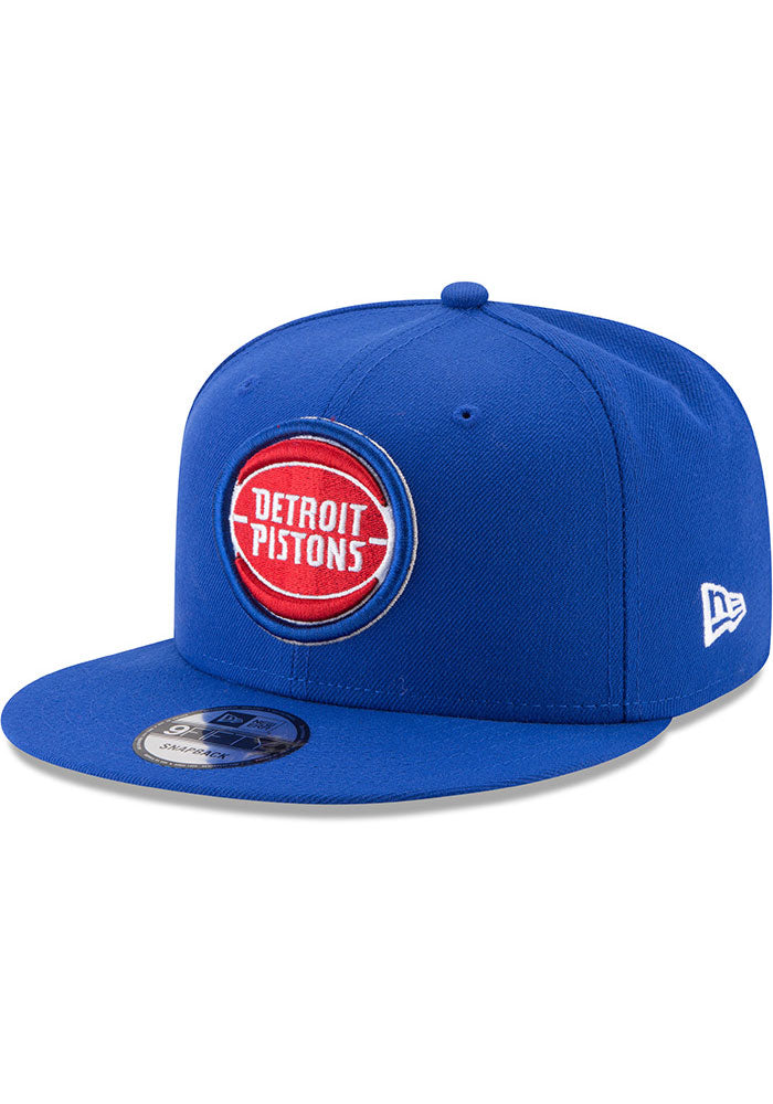 New Era Detroit Pistons Basic 9FIFTY NBA  Adjustable Snapback Hat / Red + Blue - Pure Detroit