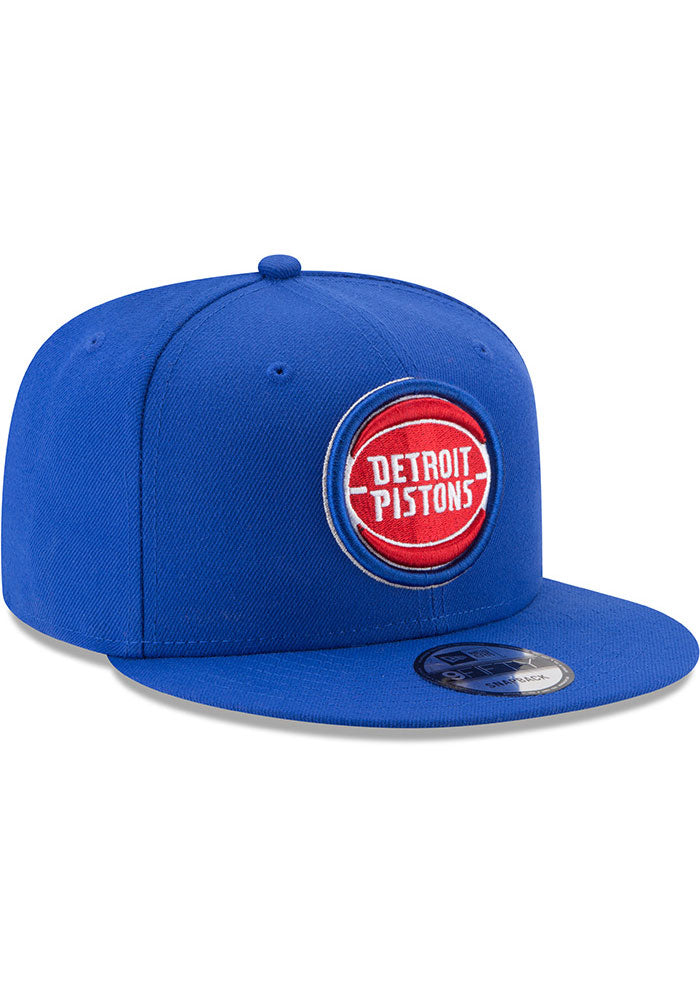 New Era Detroit Pistons Basic 9FIFTY NBA  Adjustable Snapback Hat / Red + Blue