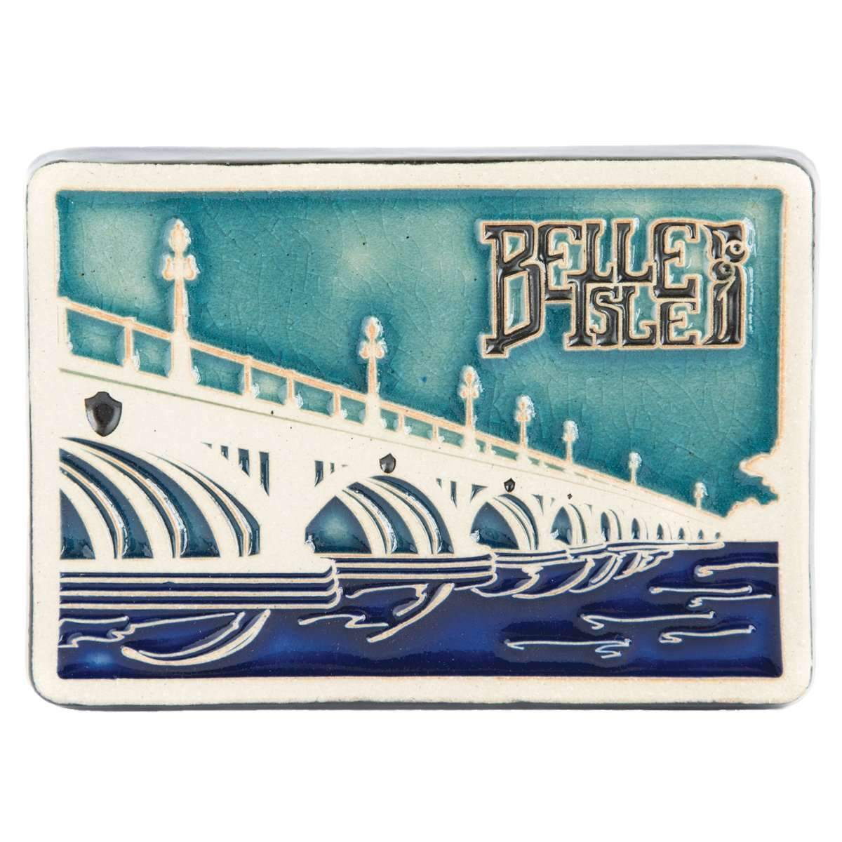 Belle Isle Bridge Pewabic Tile
