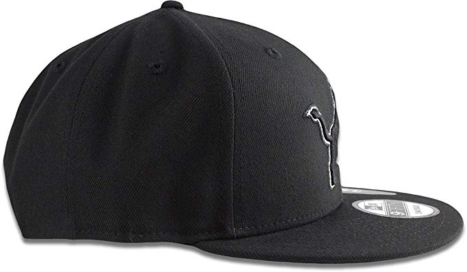 New Era Detroit Lions 9FIFTY NFL Adjustable Snapback Hat / Black + Black